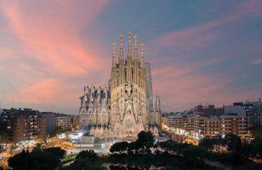 Veduta Aerea della Sagrada Familia