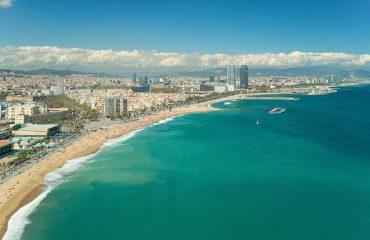Vista aerea di Barcellona