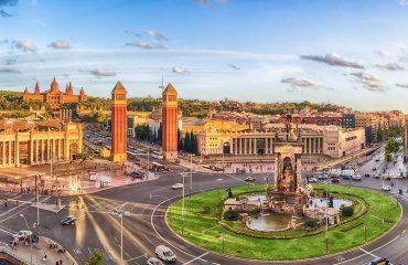 Vista aerea panoramica di Placa De Espanya